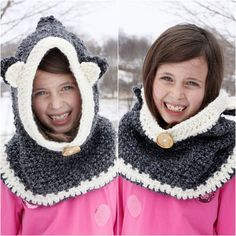Crocheted Hooded Cowl, easy version