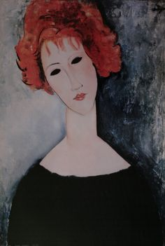 Amedeo Modigliani : Femme rousse, 1918