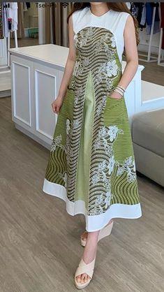 Blouse Batik, Batik Dress, Simple Dresses, Casual Dresses, A Line Kurti, Dress Brokat, Batik Fashion, Hijab Fashion Inspiration, Workwear Fashion