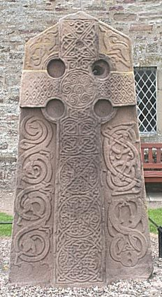 Aberlemno Pictish Kirkyard Stone, Aberlemno, Angus, Scotland. One of these days I'm going to find the pictures I took of this stone and more in 2002...