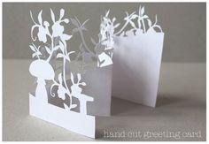 beautiful hand cut greeting card by @MrYen $13.40