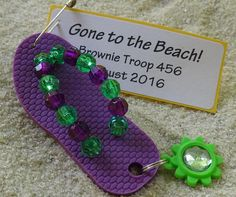 Make these adorable flip flop SWAPs to celebrate the end of the school year, the beginning of summer, a summer birthday, pool party, or beach trip. Girl Scouts love to have fun in the summer sun! Even better, let your girls make these SWAPs on a cold winter day to remind them that summer is coming their way!