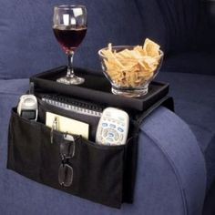 """Sofa Pocket Organizer and """"tabletop """" got terrible reviews for cheap and flimsy. Good starting design for a DIY however"""