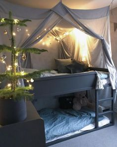 Ikea Kura Bed Hacks your Kids will Love – james and Ikea Kura Bed Hacks your Kids will Love – james and catrin Twin House Bed Frame mattress slats chimney Made in US Ikea Kura Hack, Ikea Hack Kids, Ikea Kura Bed, Ikea Hacks, Ikea Trofast, Cool Kids Bedrooms, Cool Kids Beds, Kids Rooms, Ikea Girls Room