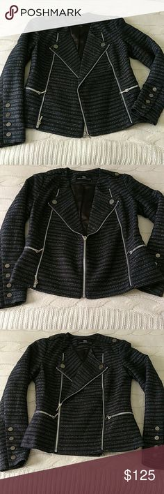 Spotted while shopping on Poshmark: Tart Collections Tweed Moto Jacket! #poshmark #fashion #shopping #style #Tart Collections #Jackets & Blazers