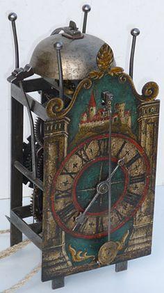 17th century Swiss Gothic iron chamber clock