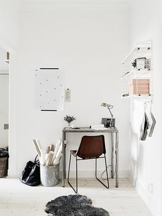 Little desk but nice light and disposition of the stuff