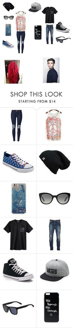 """""""Date with Robbie"""" by lexaguilbert ❤ liked on Polyvore featuring Hot Topic, Burberry, Hurley, Nudie Jeans Co., Converse, Vans and Lacoste"""