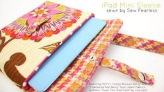 Bonjour  shows you how to make a super cute and chic iPad mini case out of  HOME  fabric!
