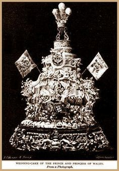 The 5' tall Wedding Cake of the Prince and Princess of Wales, March 10, 1863.