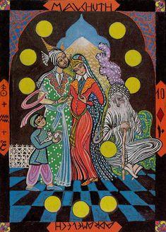 Ten of Coins - Kazanlar Tarot by Emil Kazanlar (A boldogság)