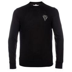 Paul Smith Men's Sweatshirts   Black Merino Sweater With Reflective Panels