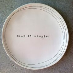 8 dish keep it simple  MADE TO ORDER by mbartstudios on Etsy, $30.00
