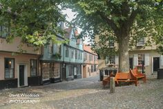 Elm Hill Norwich. Photo: David Woodcock Photography.  #NorwichLandscapePhotographer | #FineArtNorwichLandscape.  This image without the logo is available to purchase as a a digital download, print or canvas print from my website. See http://store.davidwoodcockphotography.co.uk/