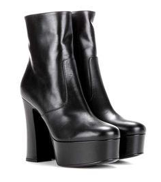 mytheresa.com - Plateau-Stiefeletten Candy 80 aus Leder - Luxury Fashion for Women / Designer clothing, shoes, bags