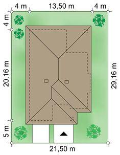 Działka 21.50 × 29.16 m domu Selene VI Dream House Plans, My Dream Home, Japanese Lifestyle, House Design Pictures, Roof Design, Design Case, Attic, Sketch, How To Plan