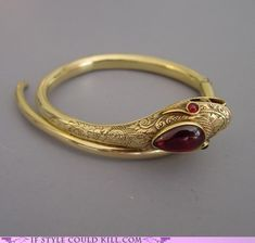Gold Ruby victorian snake ring - http://www.morninggloryantiques.com/collectVictsnakes.html