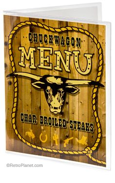 Chuck Wagon Menu Cover