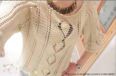 Пуловер крючком. Обсуждение на LiveInternet - Российский Сервис Онлайн-Дневников