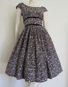 1950's Lattice Print Dress