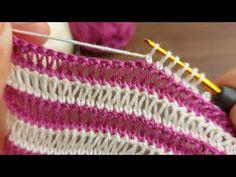 Super Easy Crochet Knitting - Tığ İşi Çok Güzel Örgü Modeli - YouTube Crochet Bookmark Pattern, Crochet Bookmarks, Crochet Blanket Patterns, Easy Crochet, Knit Crochet, Crochet Hooks, Free Crochet, Tutorial Crochet, Knitting Stitches