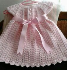 42 Adorable Crochet Baby Dress Patterns Images for 2019 - Page 19 of 67 - Kids CrochetsAngel Wings Pinafore crochet FLace baby jacket (knit with crThis Pin was discovered by FlzEvery little girl needs a whit Crochet Baby Dress Free Pattern, Knit Baby Dress, Baby Dress Patterns, Baby Girl Crochet, Crochet Baby Clothes, Baby Knitting Patterns, Crochet For Kids, Free Crochet, Crochet Baby Dresses