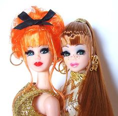 Dawn Dolls!  I used to love them because they were small and I could use them in my dollhouse.  They had weak ankles though...feet always broke off!