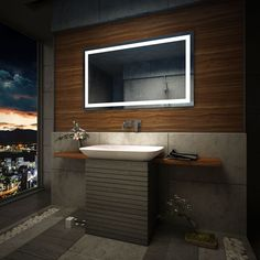 Bathroom Mirrors Ebay milan led illuminated bathroom mirror | bathroom | pinterest