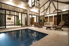 Pool-side Evening - Playa Conchal villa rental