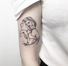Kitty love tattoo by Maria Fernandez