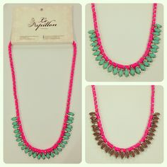 Rainbow Bridge Necklace - PhP 1,285 Color: Neon Pink Quantity: 2 pcs.  To place an order, please text/iMessage/Viber/WhatsApp/WeChat 0999-8894770 or fill out an order form at http://facebook.com/LePapillonAccessories.