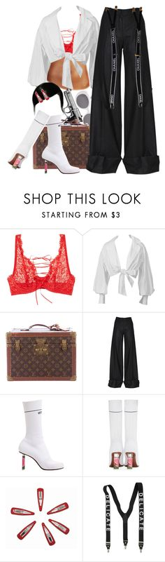 """""""Gwen Stefani //:- Luxurious"""" by trapanese-kids ❤ liked on Polyvore featuring Mimi Holliday by Damaris, Montana, Louis Vuitton, Nina Ricci, Vetements and Chanel"""