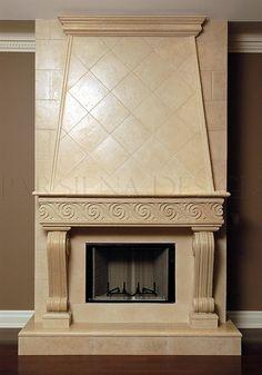 Fireplace Mantels Toronto   Custom Mantels Mississauga   Stone Mantels Markham, Fireplace Surrounds Richmond Hill, Vaughan, Burlington, Oakville   Parsiena Design Inc.