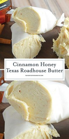 Cinnamon Honey Texas Roadhouse Butter will take your bread to the next level! Ci… Cinnamon Honey Texas Roadhouse Butter takes your bread to the next level! Cinnamon butter is super easy to prepare with 2 ingredients and only takes 5 min! Texas Roadhouse Butter, Texas Roadhouse Recipes, Texas Roadhouse Rolls, Flavored Butter, Homemade Butter, Cinnamon Butter, Honey And Cinnamon, Ground Cinnamon, Herb Butter