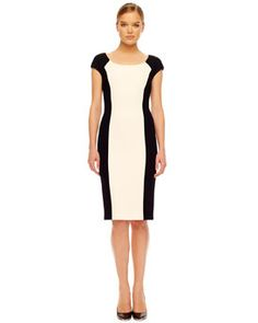 Michael Kors Michael Kors Two-Tone Crepe Dress