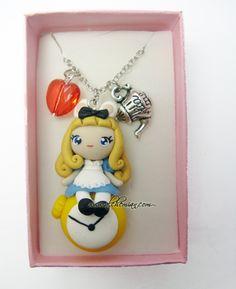 Alice in wonderland necklace by AlchemianShop.deviantart.com
