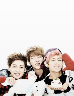 Junkook Jin and V! Aka Bae squad BTS