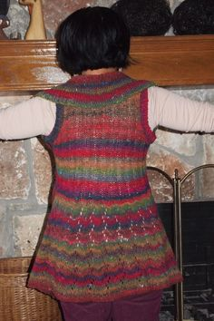 Noro yarn and the Long Lace Vest