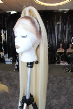 """Raw High Quality Virgin Hair 30"""" Inches Lace Frontal Blonde with Brown Roots   DISCALIMER BEFORE PURCHASING PLEASE READ:One Size Fits AllAdjustable Straps, Combs and Elastic Band included. Ships Styled Exactly like pictureREFUNDS: No Refunds On worn items or items with lace cut. Must return with in 72 hours of receiving to qualify for refund . 15% Restocking Fee for all returned wigs. IF YOU DO NOT AGREE TO THE RESTOCKING FEE PLEASE DO NOT ORDER.PLEASE HAVE PROFESSIONAL INSTALL IF YOU… 72 Hours, Short Styles, Relaxed Hair, Lace Frontal, Virgin Hair, Roots, Wigs, Halloween Face Makeup, Band"""