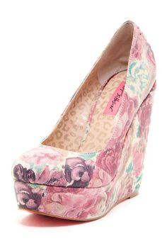 #Floral Wedge  Heeled Sandals #2dayslook #Heeled Sandals #fashion #nice #new   www.2dayslook.com