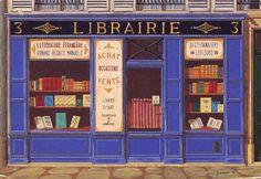 La librairie bleue.