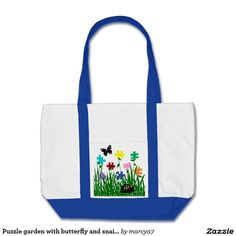 Puzzle garden with butterfly and snail bag