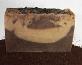 Coffee Goat milk all natural handmade soap palm free