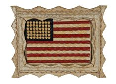 American flag tramp art frame
