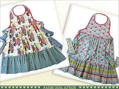Farm Girl Vintage Style Reversible Apron