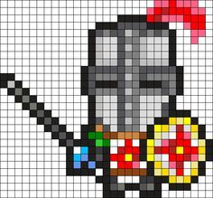 Dark Souls Knight Solaire Perler Bead Pattern / Bead Sprite