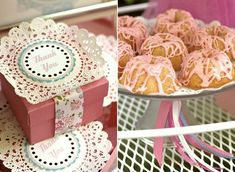 tea party favor boxes & mini bundt cakes - Celebrations At Home blog - for JLo's tea party 2012