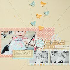 Top a band foundation with a stitched burst - layout by Meghann Andrew