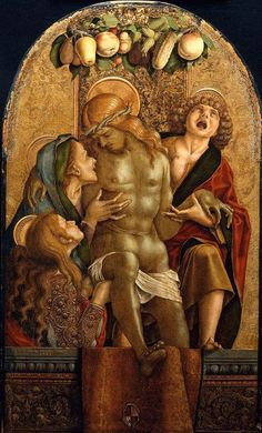 Lamentation over the Dead Christ by Carlo Crivelli