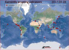 The Ring of Fire is heating up with 37 volcanoes are currently being reported erupting and others showing signs of increased seismic unrest as well. Locate